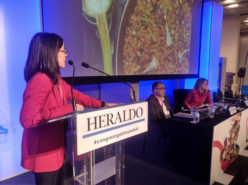 Ana Zaragoza explicando el proyecto.