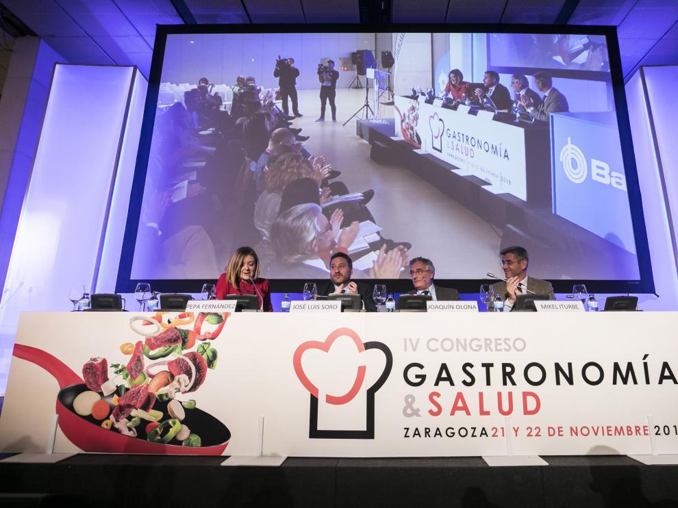La inauguración del encuentro gastronómico en el Palacio de Congresos de Zaragoza, ayer.