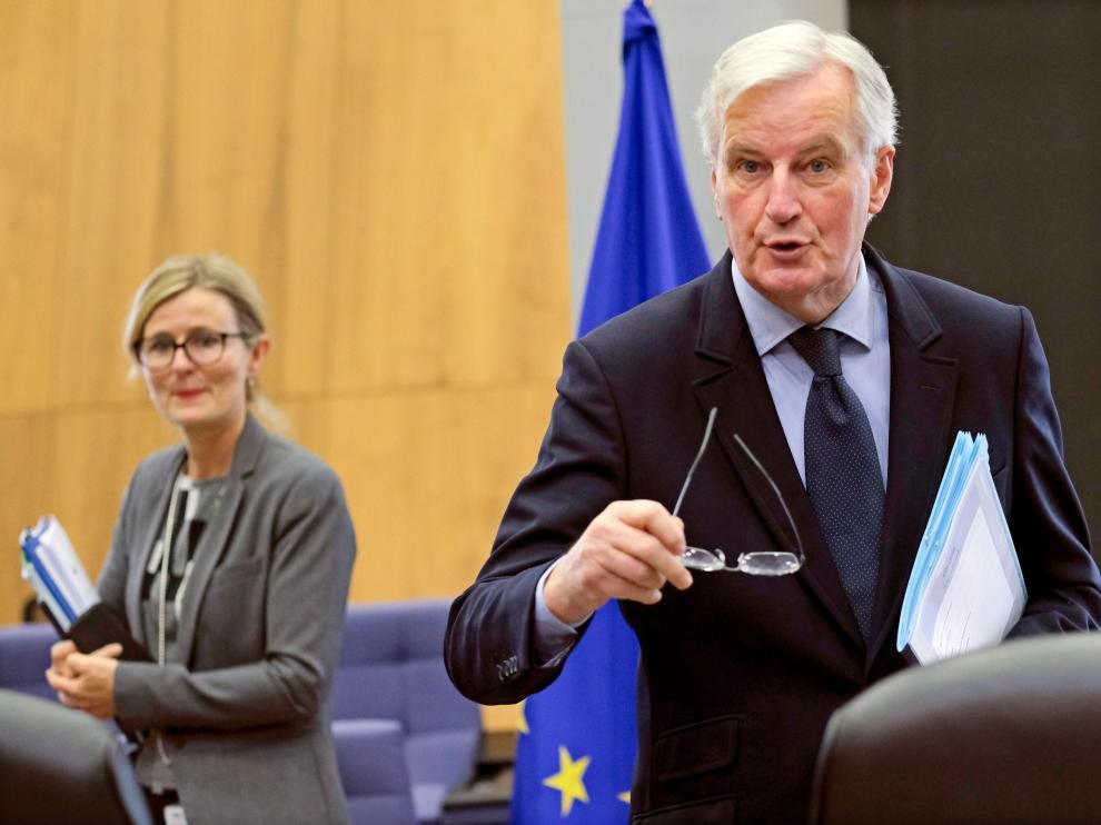 """El jefe negociador europeo para el """"brexit"""", Michel Barnier."""