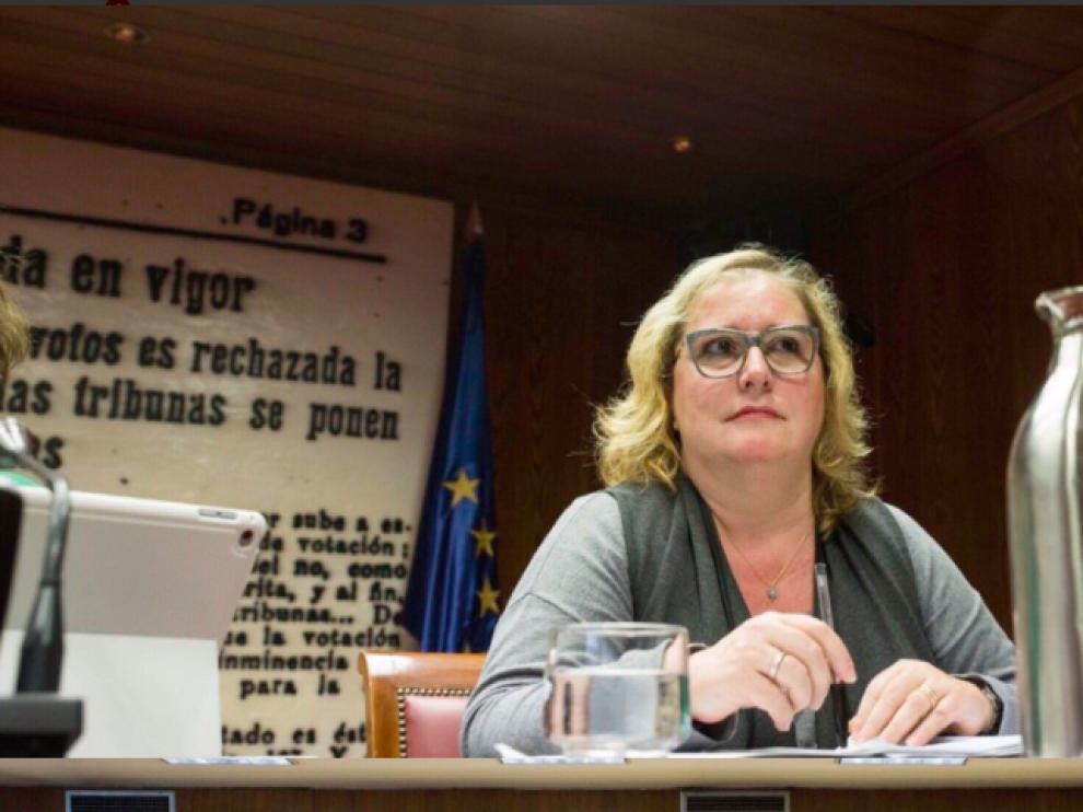 La senadora de Podem Catalunya, Celia Cánovas.