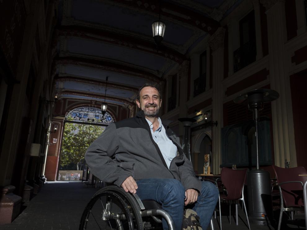 El hasta ahora presidente de Interpeñas, Braulio Cantera, en el pasaje del Ciclón.