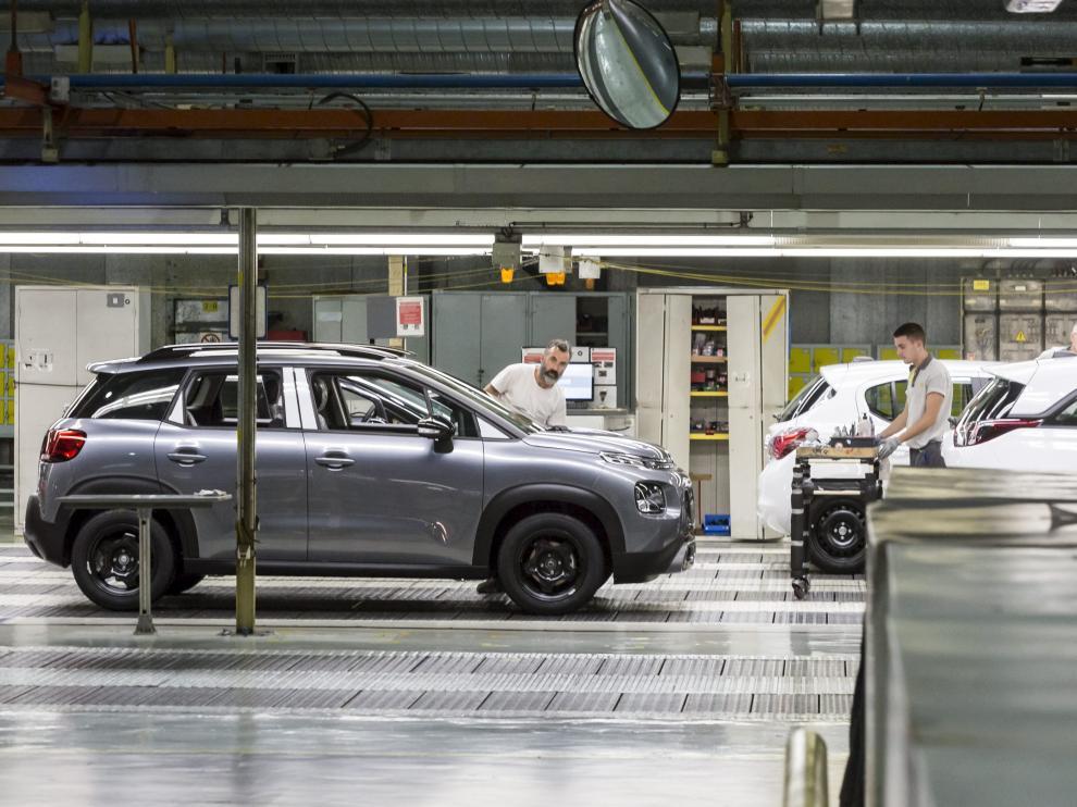 Planta de Opel en Zaragoza.