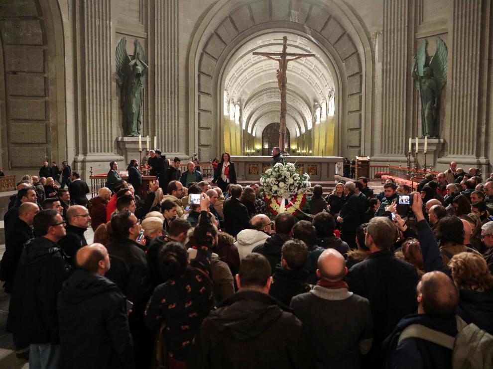 Aniversario de la muerte del dictador Francisco Franco, enterrado en la Abadía.