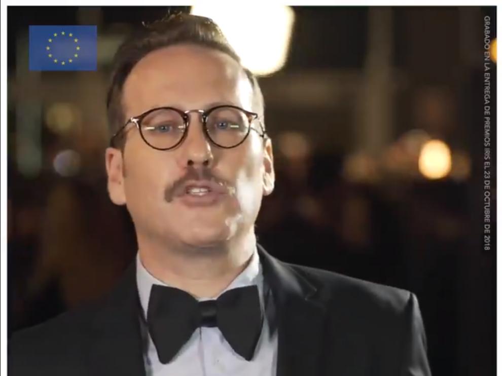 El cómico Joaquín Reyes en una imagen del vídeo.
