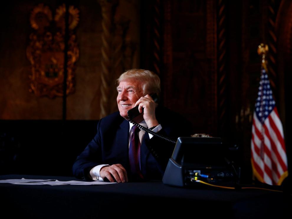 El presidente de Estados Unidos, Donald Trump, habló este jueves mediante teleconferencia.