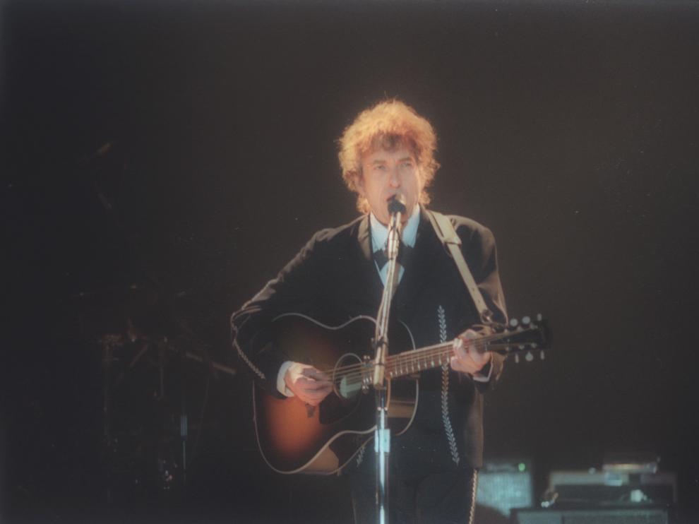 Concierto de Bob Dylan en Zaragoza en 1995.