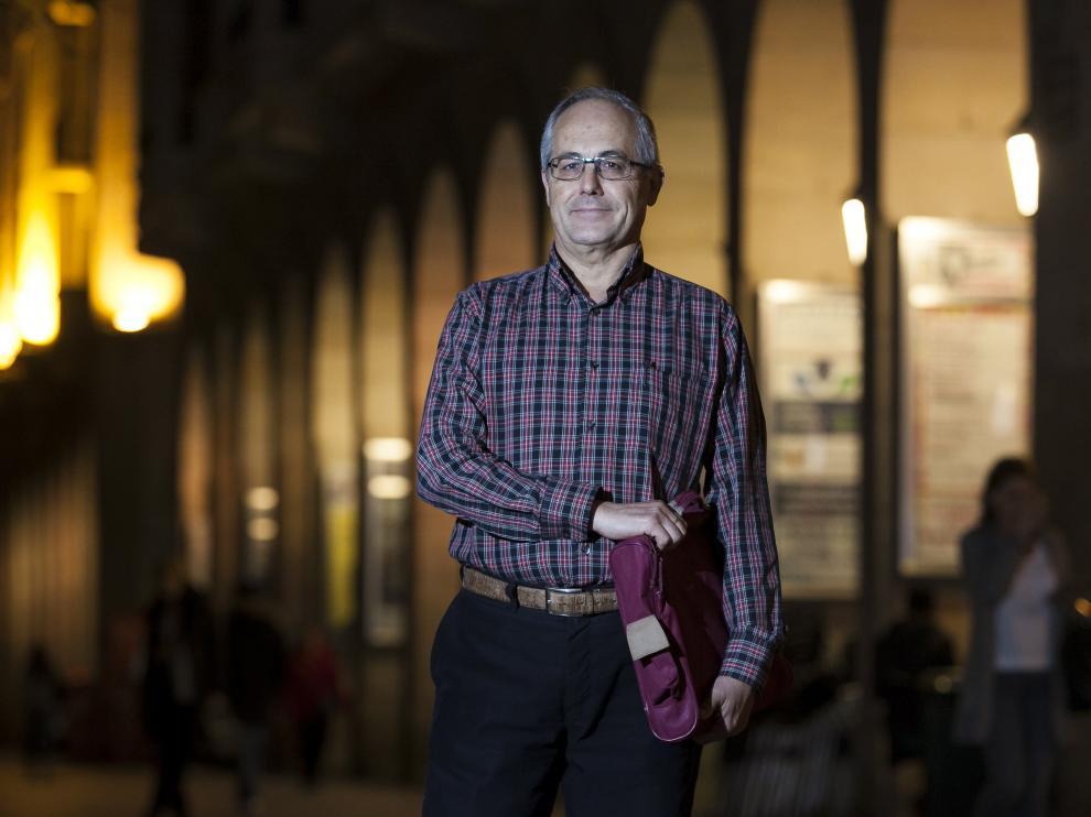 Rafael Nogués, en el paseo de la Independencia de Zaragoza.