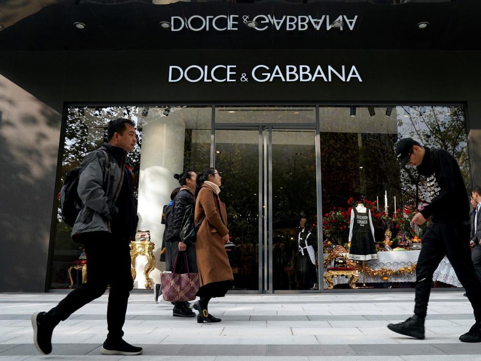 Tienda de Dolce & Gabbana en Shangai.