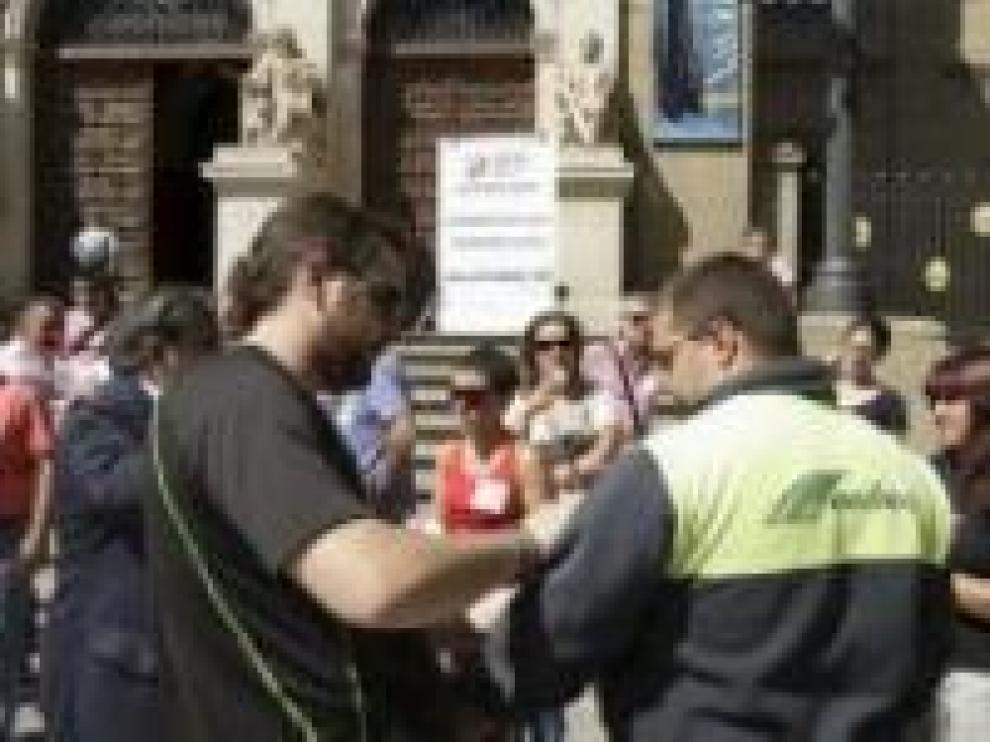 Imagen de archivo de 2012 de una protesta de autónomos contra el impago en una empresa ya desaparecida Transportes Ochoa