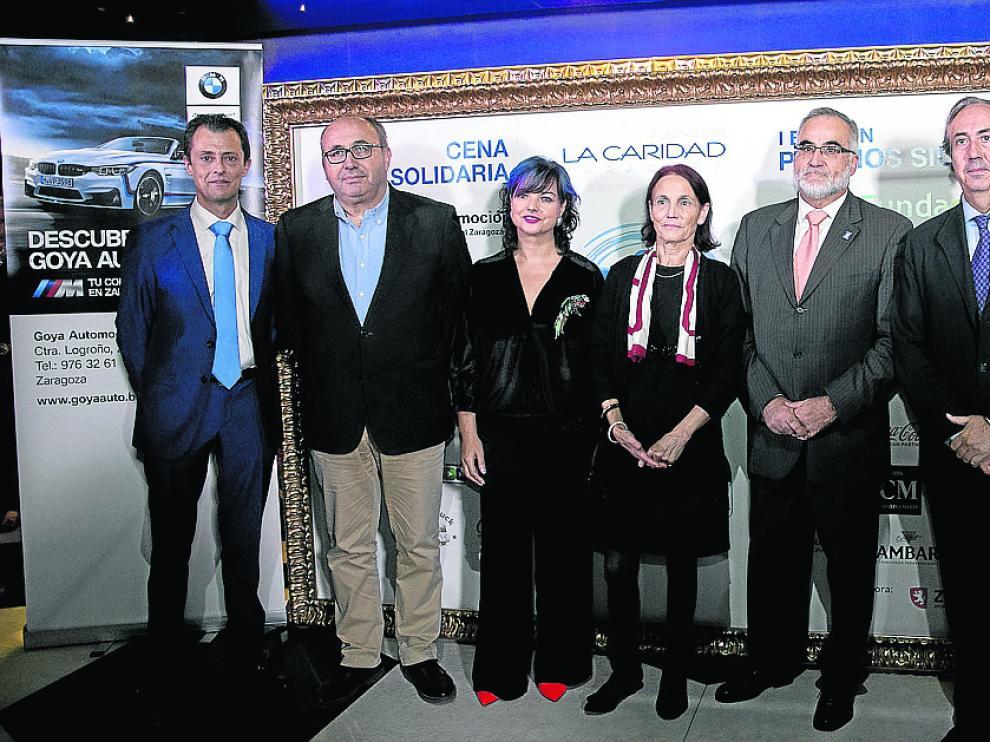 Los galardonados por la Fundación La Caridad.