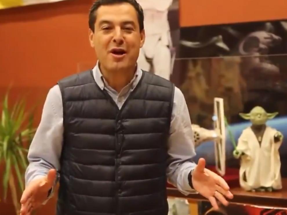 El presidente del PP-A y candidato a la Presidencia de la Junta, Juanma Moreno