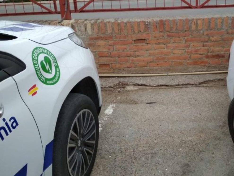 Vehículos de la Policía Local de La Almunia.
