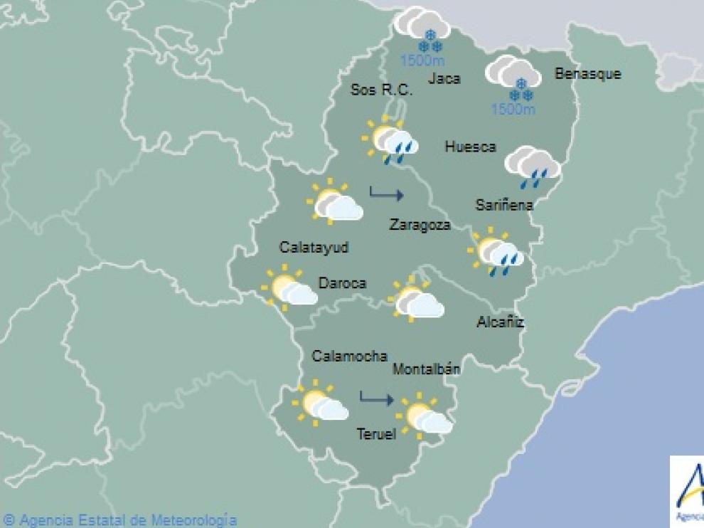 El tiempo este fin de semana en Aragón.