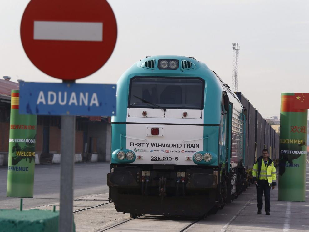 El tren de la seda une la ciudad china de Yiwu y Madrid.