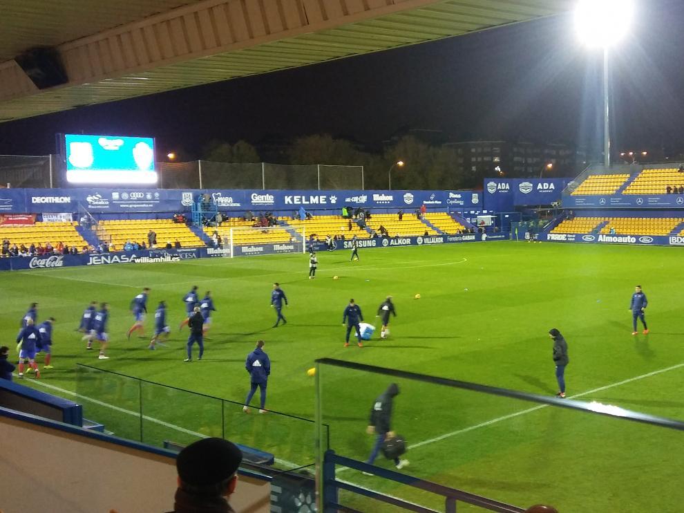 El estadio de Santo Domingo, minutos antes del Alcorcón-Real Zaragoza.