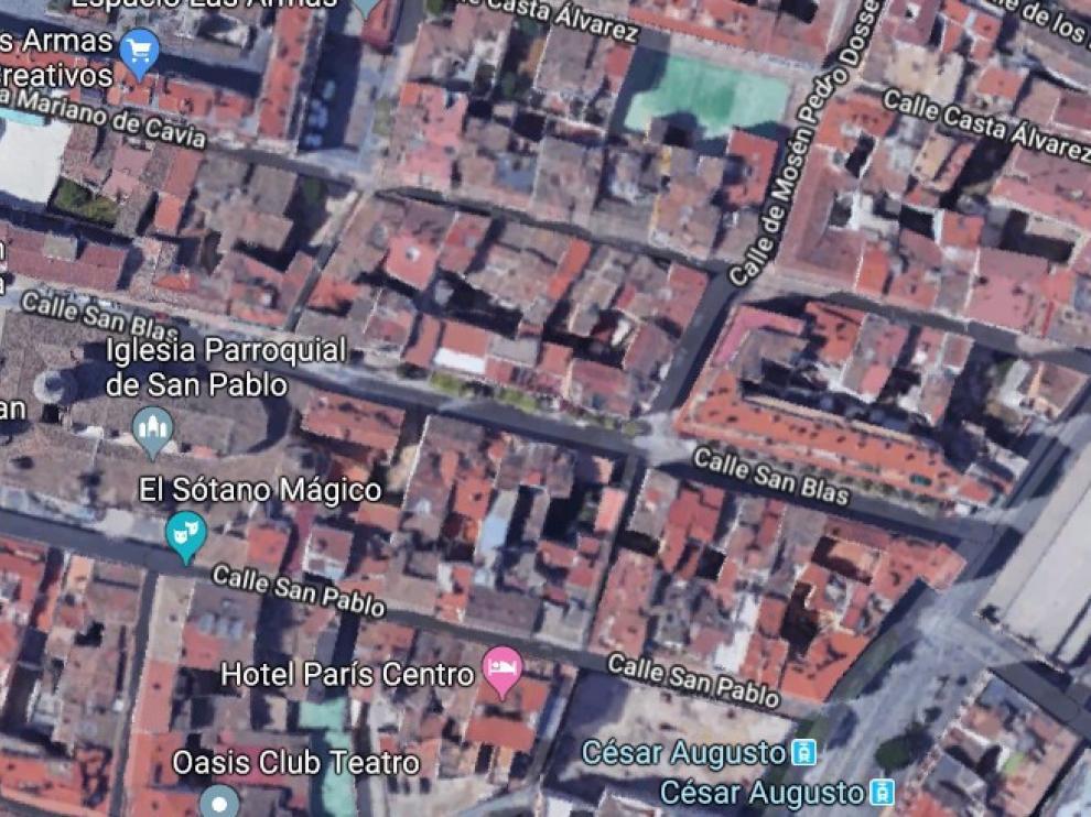 El suceso ha ocurrido en la calle San Blas de la capital aragonesa.