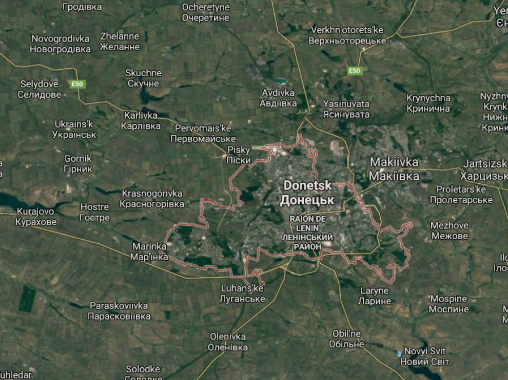 Ucrania ataca con artillería pesada posiciones de los separatistas en Donetsk
