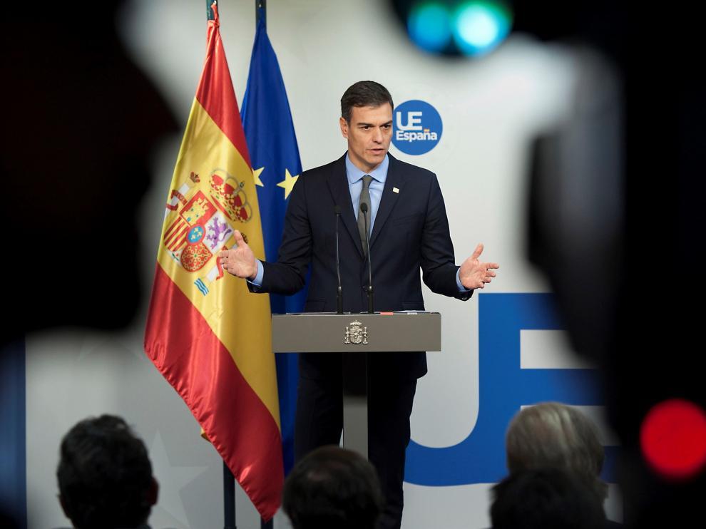 Pedro Sánchez este domingo tras la reunión del Consejo Europeo