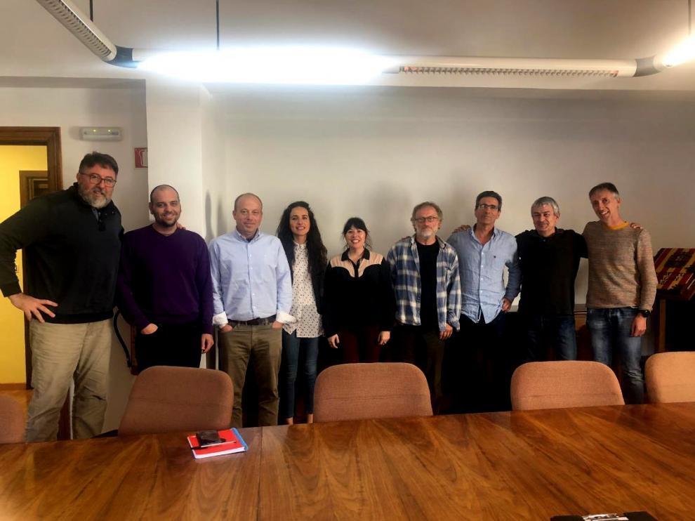 Una reunión mantenida en el Ayuntamiento de Sabiñánigo.