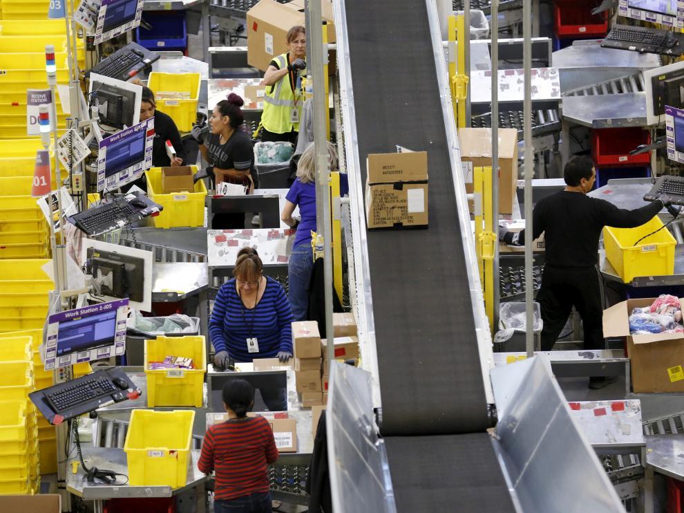 Preparación de pedidos de compras por internet.