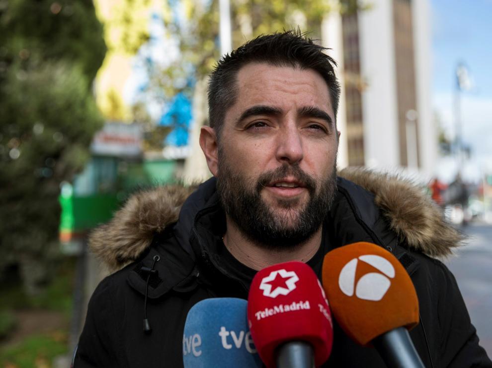 Dani Mateo a su llegada al Juzgado de Instrucción número 47 de Madrid.
