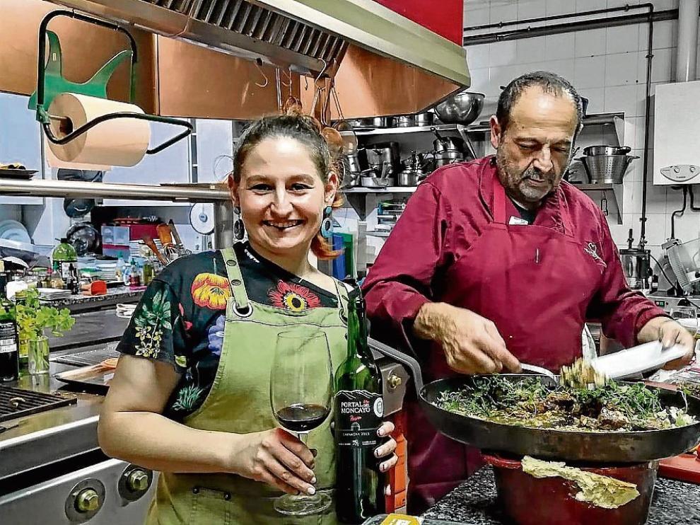 Paula Arto y Antonio Arto en la Escuela Diorrios.