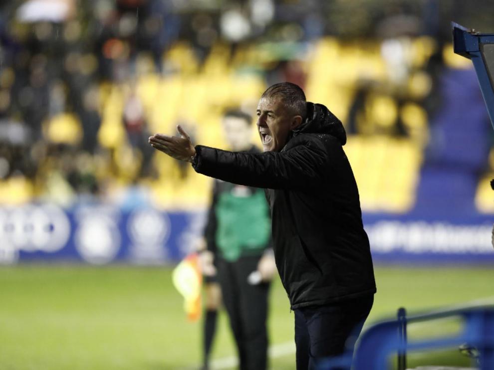 Lucas Alcaraz, este domingo en el partido de Alcorcón, concluido con derrota por 2-0.