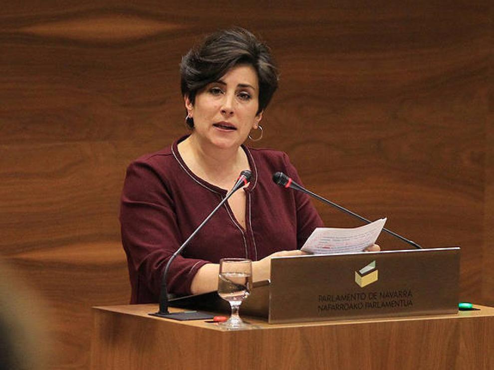 La consejera de Educación del Gobierno de Navarra, María Solana.