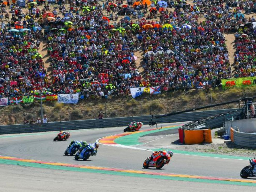 Imagen del pasado Gran Premio de Aragón en septiembre de 2018.