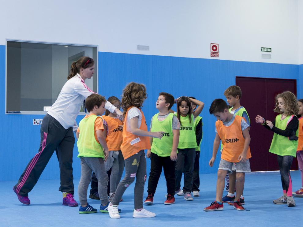 Clase de Educación Física en el colegio Zaragoza Sur el pasado curso.