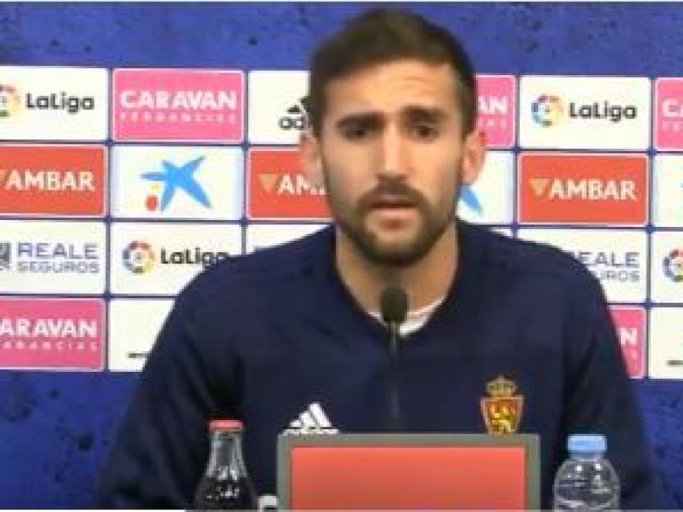 Alberto Benito, en la rueda de prensa ofrecida este martes en la Ciudad Deportiva.