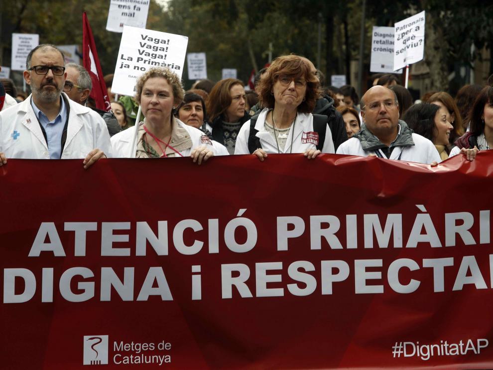 Imagen de las movilizaciones que tuvieron lugar el pasado lunes en la primera jornada de huelga.