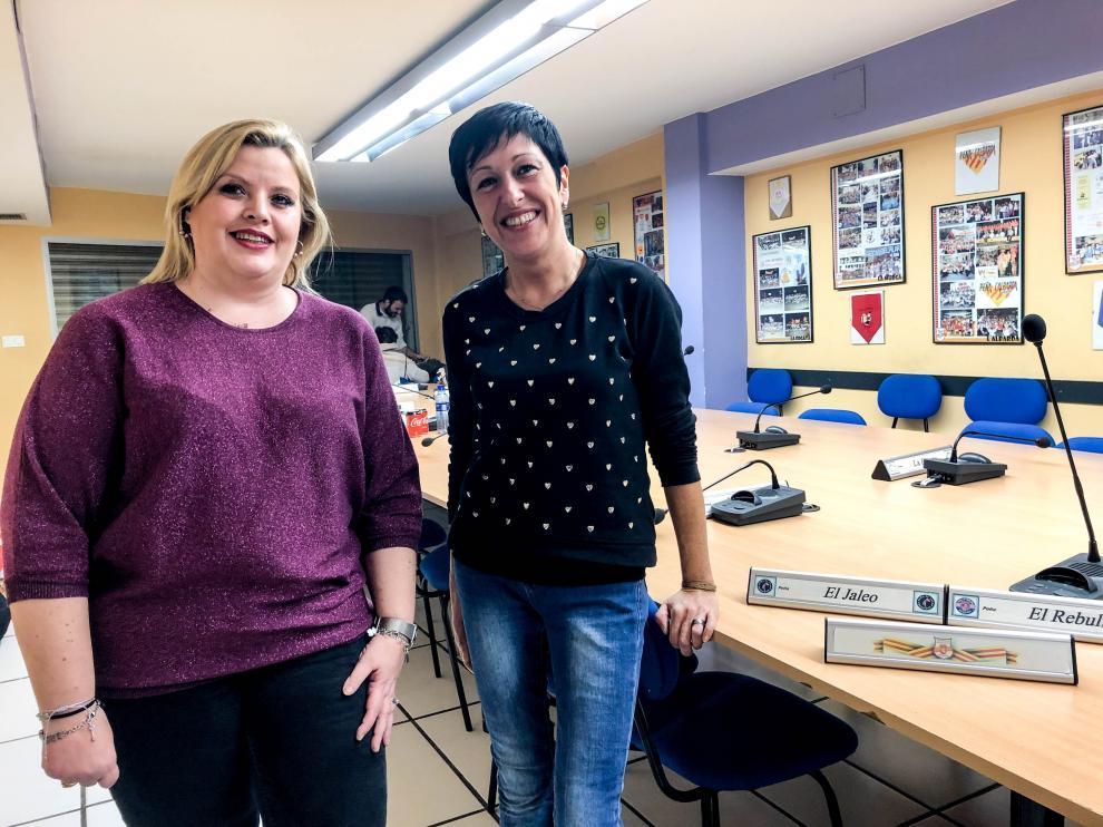 Las candidatas Eva Cerdán y Sara Priego.