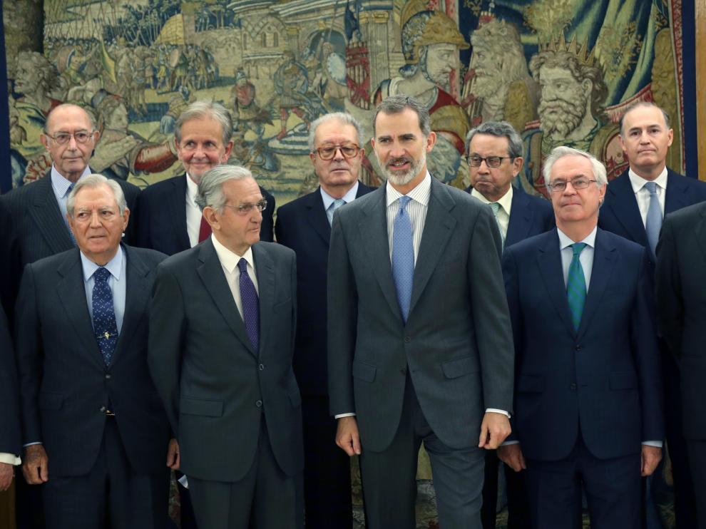 El rey Felipe VI en el Palacio de la Zarzuela con motivo de la conmemoración del 40 aniversario de la Constitución Española.