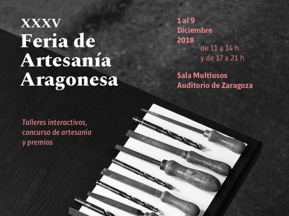Cartel oficial de la XXXV Feria de Artesanía Aragonesa