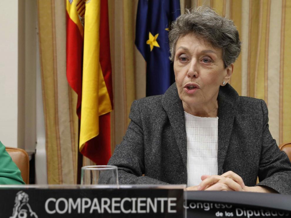 Rosa María Mateo pide disculpas al diputado aragonés del PP al que insultó