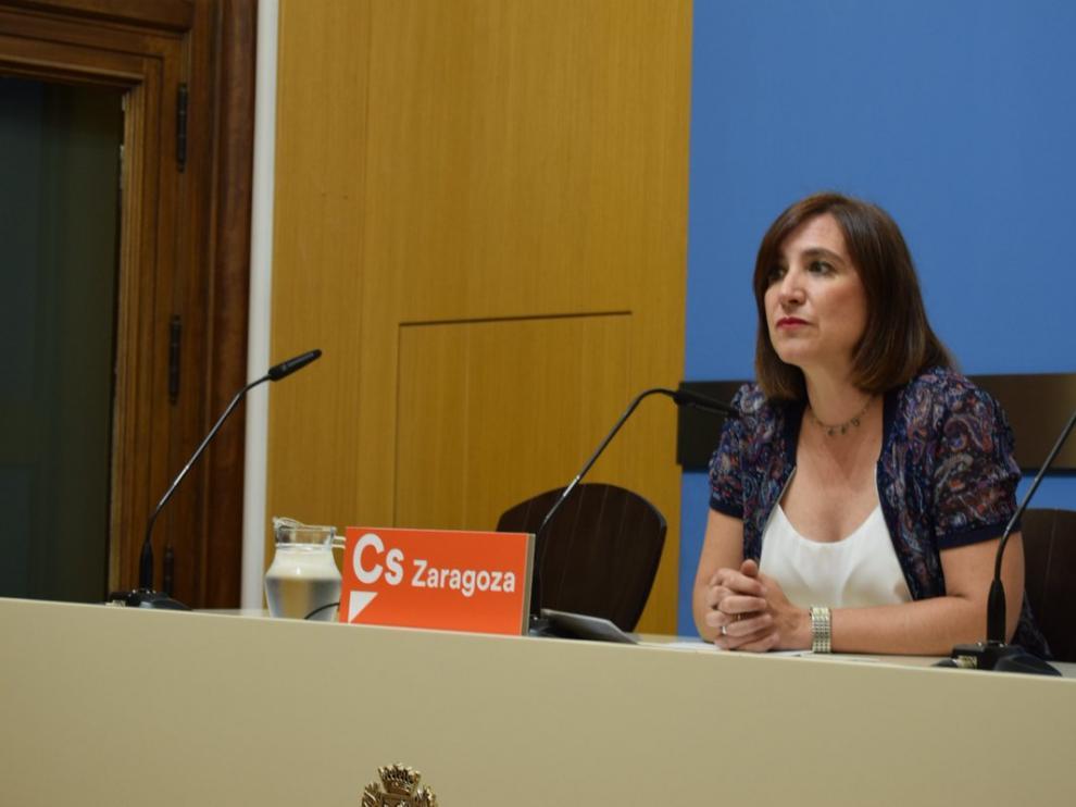 La portavoz de Ciudadanos en el Ayuntamiento de Zaragoza, Sara Fernández.