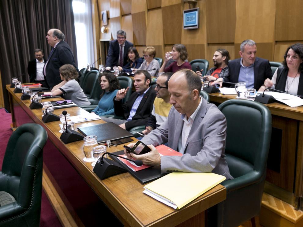 Debate sobre el estado de la ciudad en Zaragoza