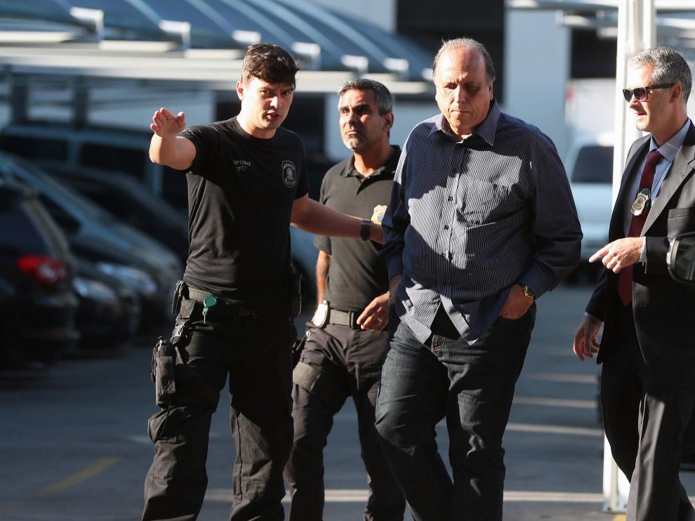 El gobernador de Río de Janeiro, Luis Fernando Pezao, arrestado por corrupción.