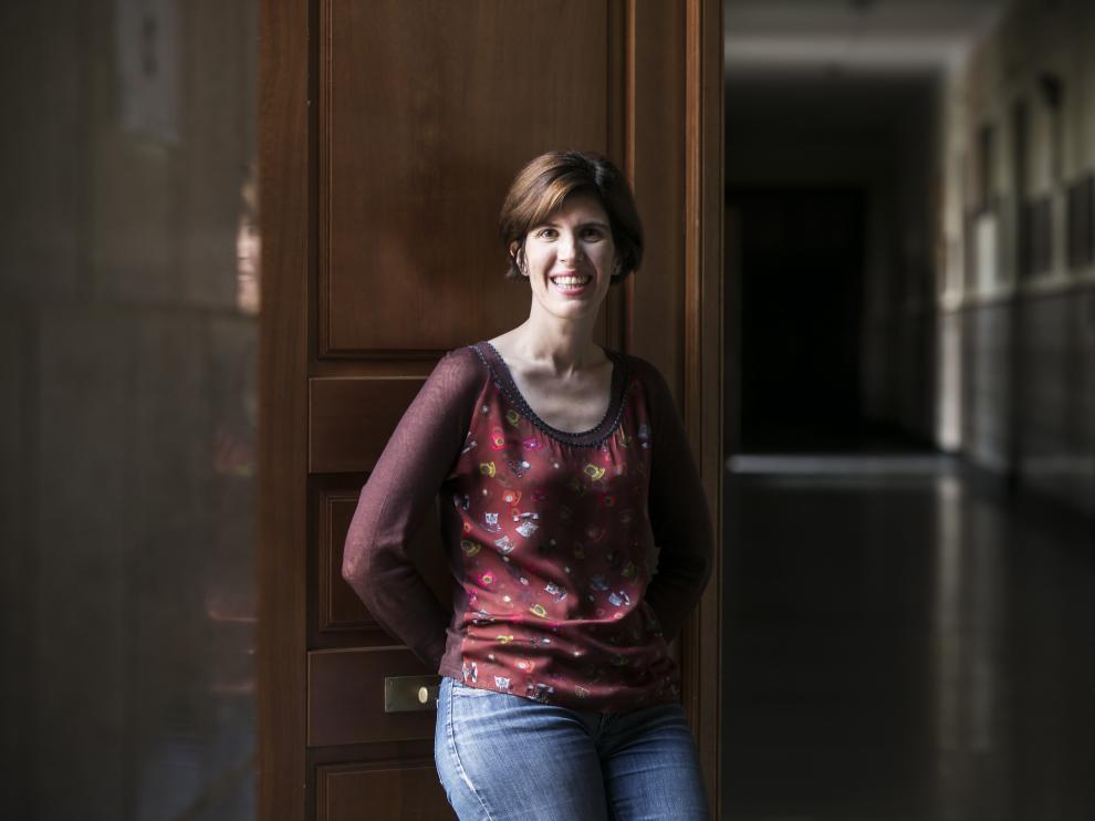 Julia Herrero, investigadora en magnetismo y profesora en el Centro Universitario de la Defensa