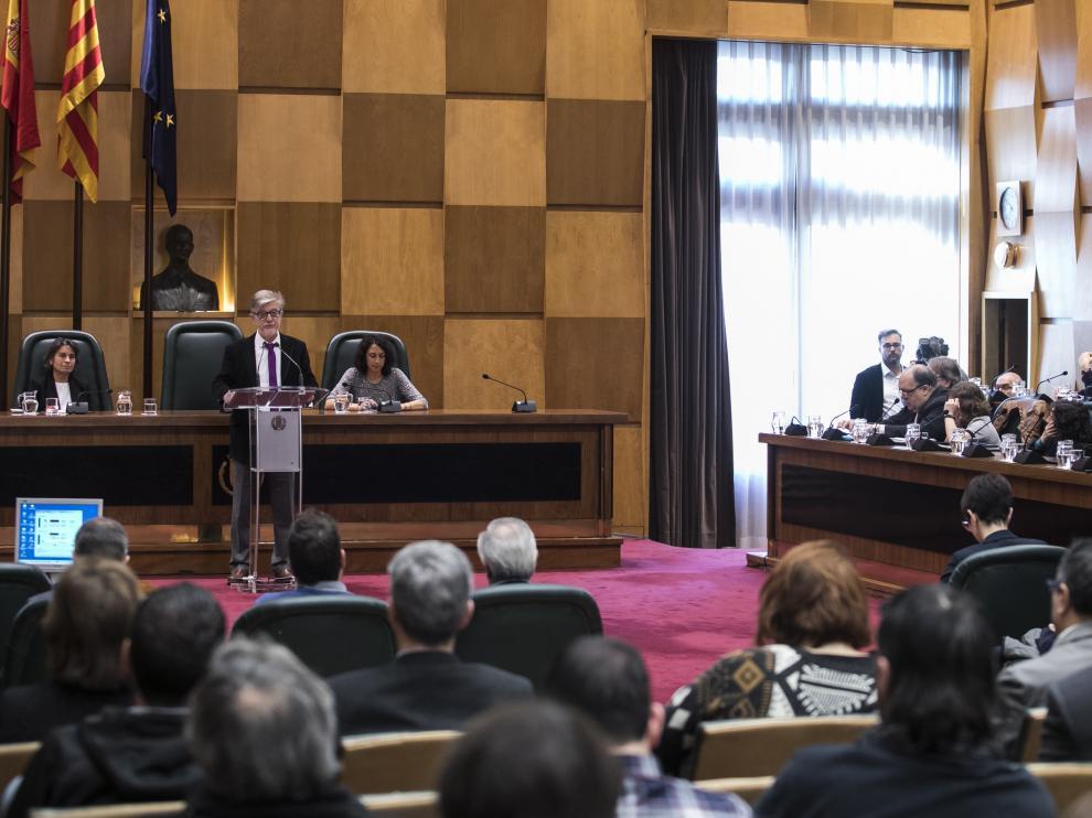 Debate sobre el Estado de la Ciudad en el Ayuntamiento de Zaragoza.