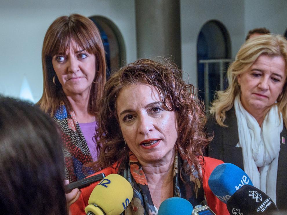 La ministra Montero, el pasado domingo en Bilbao