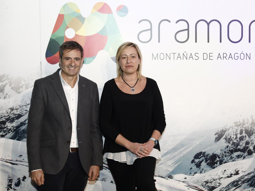 Antonio Gericó y Marta Gastón, este jueves en la presentación de la temporada.