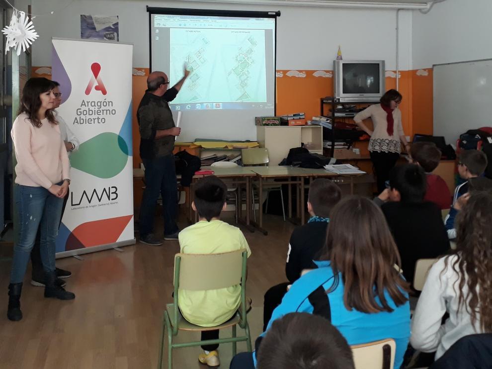 Sesión informativa de este jueves en el colegio Sancho Ramírez.