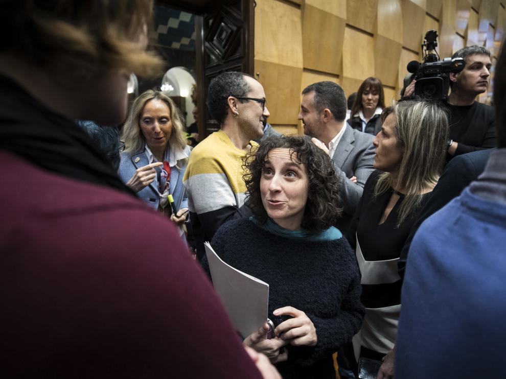 Arantza Gracia, en el debate de la ciudad de este jueves