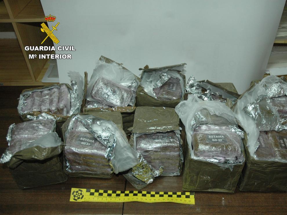 Paquetes con hachís de otra operación policial.