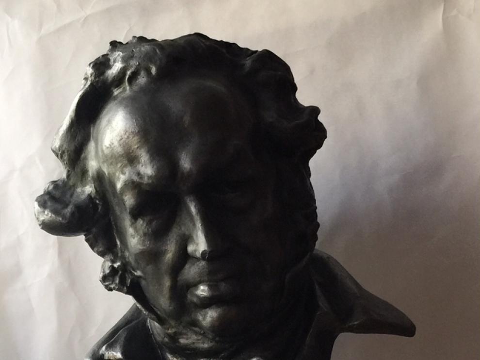 El molde de escayola que usaba Benlliure para reproducir a Goya.