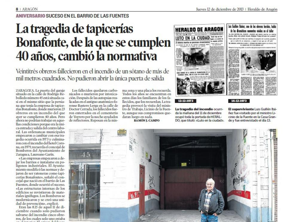 Historias de la tragedia de tapicerías Bonafonte en Heraldo.