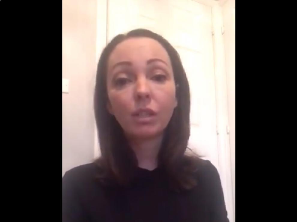 Imagen del vídeo que la víctima y madre del niño ha publicado en Twitter.