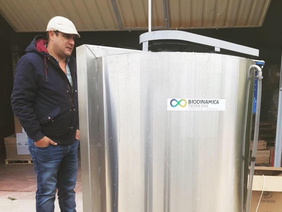 Ángel Amurrio, de Biodinámica Tierra Viva, asesora a Bodegas Tempore.